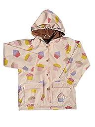 Foxfire Kids Girls Light Pink Cupcake Raincoat, Pink, 10 US