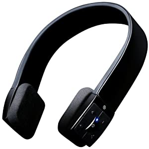 7dayshop R7 Bluetooth Wireless Stereo Headphones - Designer Headband - Ideal for use with Google Nexus, Samsung Galaxy Tab, Apple ipod, iPad 3, iPhone 4, 4s, 5, Samsung Galaxy S3, Skype etc - Matt Black