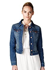Limited Collection Cotton Rich Studded Denim Jacket