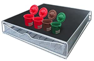 Ekobrew Single Serve Storage Drawer and 4 Ekobrews for Keurig K-Cup Brewers