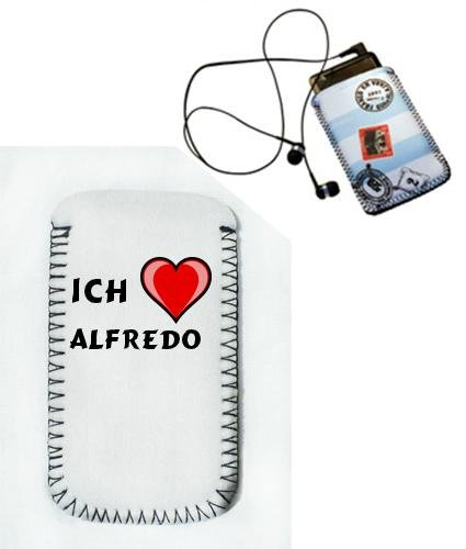 iPod Case mit Ich Liebe Alfredo - Gr&#246;&#223;e: 5,5 cm x 10 cm (Vorname/Zuname/Spitzname)