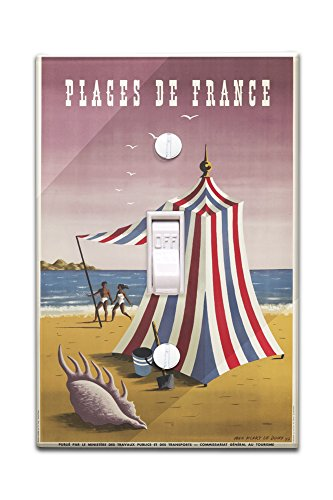 plages-de-france-vintage-poster-artist-doux-france-c-1947-light-switchplate-cover