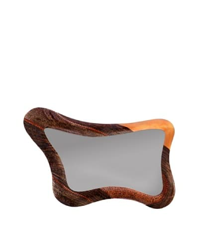 Eunique Chesapeake Abstract Mirror, Tan/Black