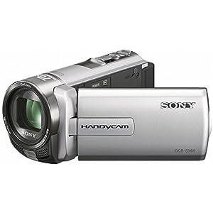 Sony DCR-SX65ES SD-Camcorder (7,5 cm (3 Zoll) LCD-Display, 60x opt. Zoom, 4GB Speicher) Szenenerkennung und iAuto silber