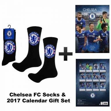 Official Chelsea FC 2017 Calendar & Socks Gift Set