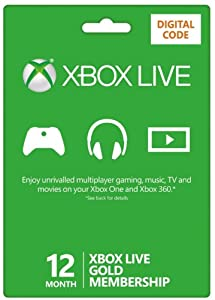 Xbox LIVE 12 Month Gold Membership (XB1/360) [Xbox Live Online Code]