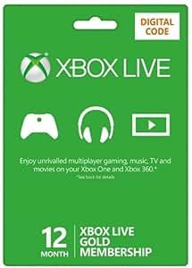 Xbox LIVE 12 Month Gold Membership (XB1/360) [Xbox Live Online Code]