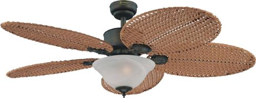 Westinghouse Lighting 7875000 Calisto Two-Light 52-Inch Five-Blade Indoor Ceiling Fan, Oil Rubbed Bronze With White Alabaster Glass Bowl back-470284