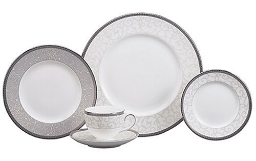 Wedgwood Celestial Platinum 5-Piece Dinnerware Place Setting, Service for 1