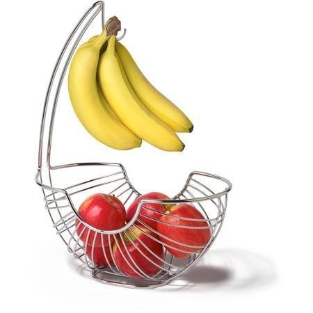 Spectrum Pantry Works Ellipse Fruit Tree Basket and Banana Holder Chrome WLM (Pantry Works Fruit Basket compare prices)