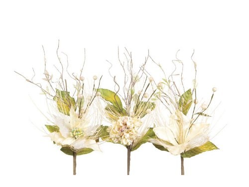 12 Neutral Warmth Ivory Poinsettia/Amaryllis/Hydrangea