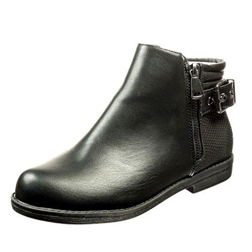 angkorly-scarpe-da-moda-stivaletti-scarponcini-donna-pelle-di-serpente-fibbia-tacco-a-blocco-2-cm-ne