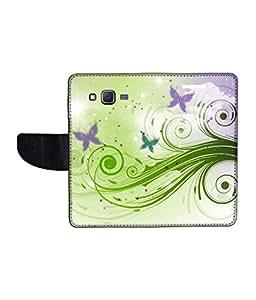 KolorEdge Printed Flip Cover For Samsung Galaxy On7 Multicolor - (1479-55KeMLogo11506SamOn7)