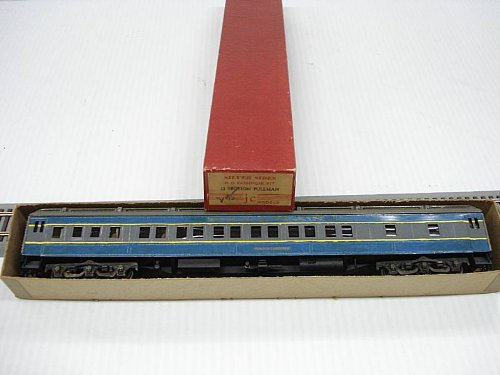 80' 12 Section Pullman w/Interior Wood/Metal HO Scale by Silver Sides JC Models