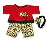 Red Leopard Outfit Teddy Bear Clothes fit Build a Bear Teddies