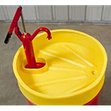 "Dixie Poly BM-FUN-3 Polyethylene Drum Pump Funnel, 5 gallon Capacity, 6"" Height, 24"" Outside Diameter"