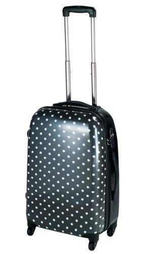 [ココイズム] CO.CO ISM ポルカハード TSAファスナースーツケース Mサイズ(57cm) 74-20091 ブラック