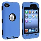Importer520 Black Hard / Blue Skin Hybrid Case Cover compatible with Apple iPod Touch 4G