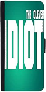 Snoogg The Clever Idiot Graphic Snap On Hard Back Leather + Pc Flip Cover Sam...