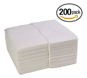 200 Pack Linen Feel Guest Towels Disposable Cloth Like Tissue Paper Hand Napkins