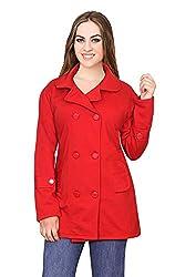 Miss Maria Women's Fleece Coat (Orange, Large)