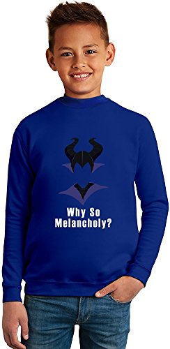 Why so Melancholy Superb Quality Boys Sweater by TRUE FANS APPAREL - 50% Cotton & 50% Polyester- Set-In Sleeves- Open End Yarn- Unisex for Boys and Girls 13-14 years