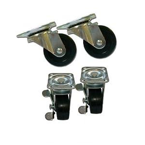 Roulettes pivotantes 50 mm Lot de 4: Bricolage