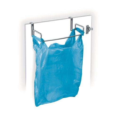 Lynk Over Cabinet Door Organizer - Plastic Bag Holder - Chrome (Over The Cabinet Trash Holder compare prices)