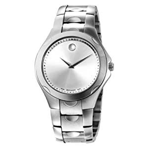 Movado Men's 606379 Luno Sport Stainless-Steel Silver Round Dial Bracelet Watch from Movado
