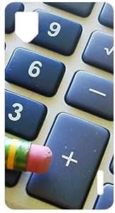 Pencil Calculator Buttons White Back Cover Case for LG Optimus G E975