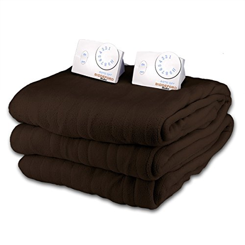Buy Bargain Soft Microplush King Size Electric Heated Blanket by Biddeford (Chocolate)
