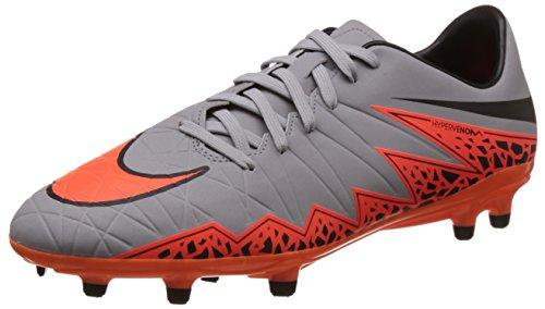 Nike - Hypervenom Phelon Ii Fg, Scarpe Running Uomo, Grigio (Grau (Grau/Orange)), EU 45 (US 11)
