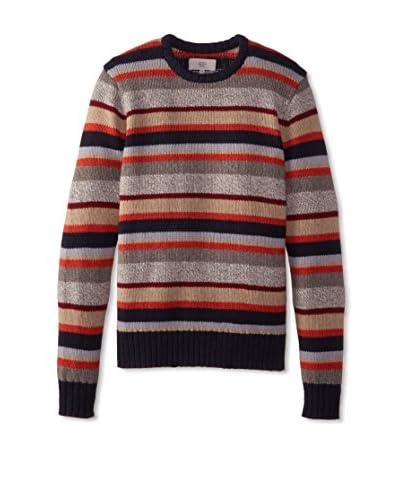 Jack Spade Men's Sanford Crew Neck Striped Sweater