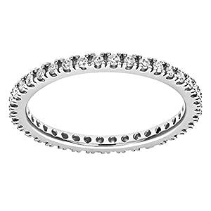Ariel 9ct White Gold 0.36ct Diamond Full Eternity Ring