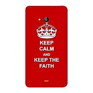Skin4gadgets Keep Calm and KEEP THE FAITH - Colour - Red Phone Skin for MICROSOFT LUMIA 535