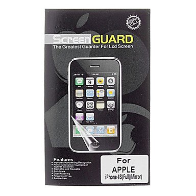 Professional Mirror Lcd Film Guard Set With Cleaning Cloth For Iphone 4/4S
