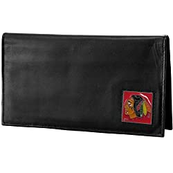 NHL Chicago Blackhawks Genuine Leather Deluxe Checkbook Cover