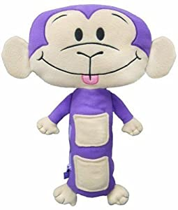 Seat Pets Purple/Tan Monkey Car Seat Toy Baby, NewBorn, Children, Kid, Infant