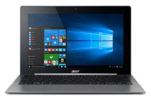 """Acer Aspire Switch 11V - SW5-173 Tablet, Display da 11.6"""" Multi-Touch HD, Processore Intel Core M-5Y10c, RAM 4GB, SSD da 60GB, Scheda Grafica Intel HD Graphics 5300, Grigio"""