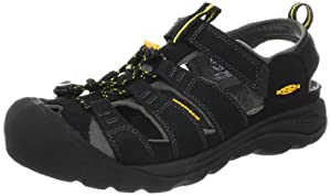 KEEN Men's Commuter III Cycling Shoe,Black/Yellow,10.5 M US