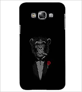 PrintDhaba Chimpanzee D-2348 Back Case Cover for SAMSUNG GALAXY A8 (Multi-Coloured)