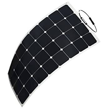 HQST 100 Watt 12V Monocrystalline Lightweight Solar Panel for RV/ Boat/ Other Off Grid Applications