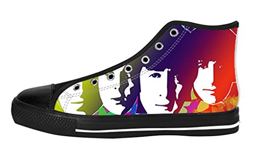 Women's High Top Lace-up Casual Canvas Shoes Rock Band The Beatles DIY Fashion Sneaker
