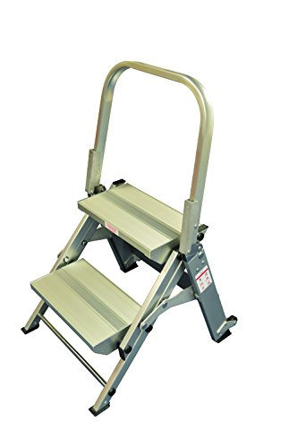 Trittleiter, 2 Stufen, Zusammenklappbar, Safety Schritt