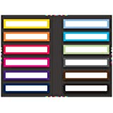 Semikolon Self-Adhesive File Folder Labels Booklet, 360-Count