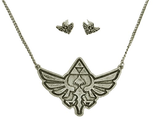 Nintendo Legend of Zelda Earring and Necklace Set