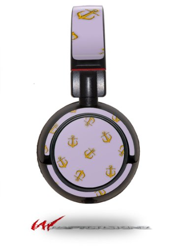 Anchors Away Lavender - Decal Style Vinyl Skin Fits Sony Mdr Zx100 Headphones (Headphones Not Included)
