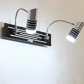 Bagno lampada da parete 2 luce moderno metal black - Amazon illuminazione bagno ...