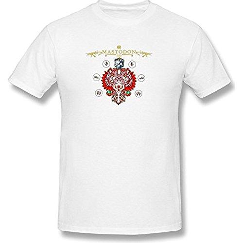 Fly&Tian Men's Mastodon Album Logo T-shirt