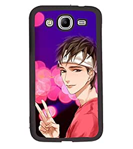 Fuson 2D Printed Boy Designer back case cover for Samsung Galaxy Mega 5.8 I9150 / I9152 - D4558
